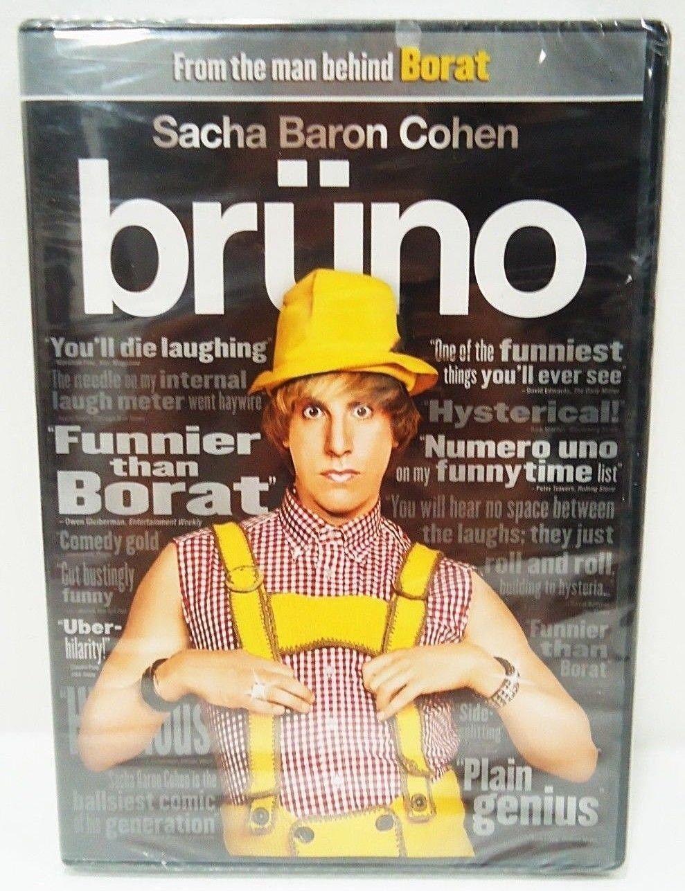 BRUNO - DVD - SACHA BARON COHEN - BORAT - BRAND NEW - EURO - COMEDY - MOVIE