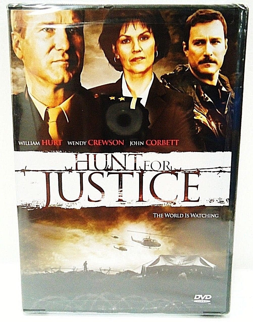 HUNT FOR JUSTICE - DVD - WILLIAM HURT - NEW - SEALED - YUGOSLAVIA - WAR - MOVIE