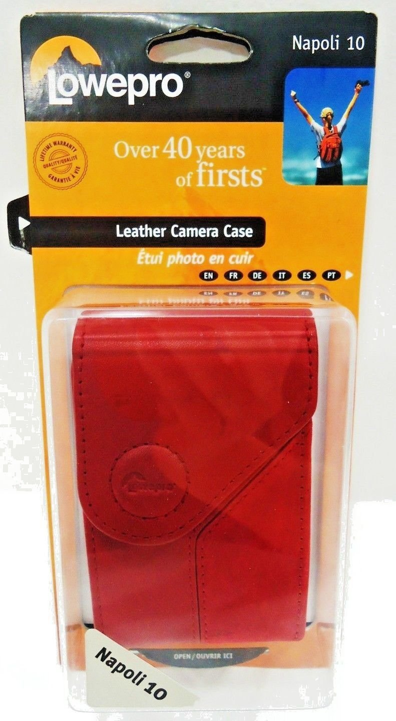 LOWEPRO - UNIVERSAL - RED - SUEDE - LEATHER - CAMERA - CASE - NEW - SONY - CASIO
