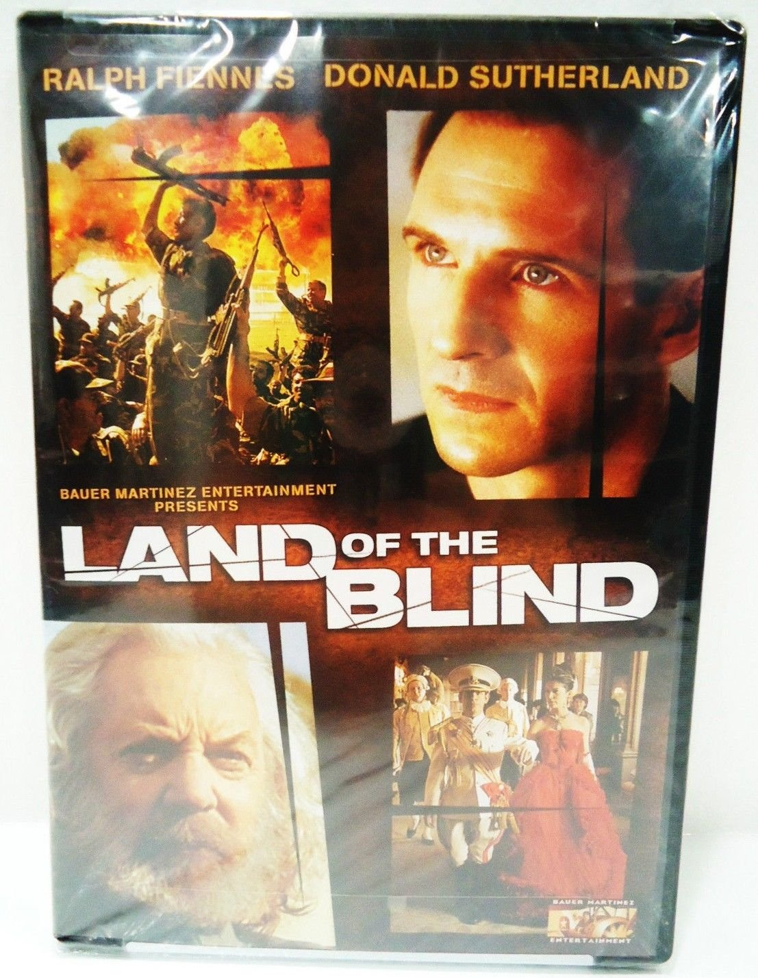 LAND OF THE BLIND - DVD - RALPH FIENNES - DONALD SUTHERLAND - NEW - WAR - MOVIE
