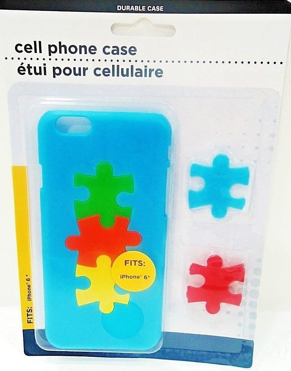 APPLE - iPHONE - 6 - BLUE - JIGSAW - PUZZLE - CELL PHONE - HARD - CASE - NEW