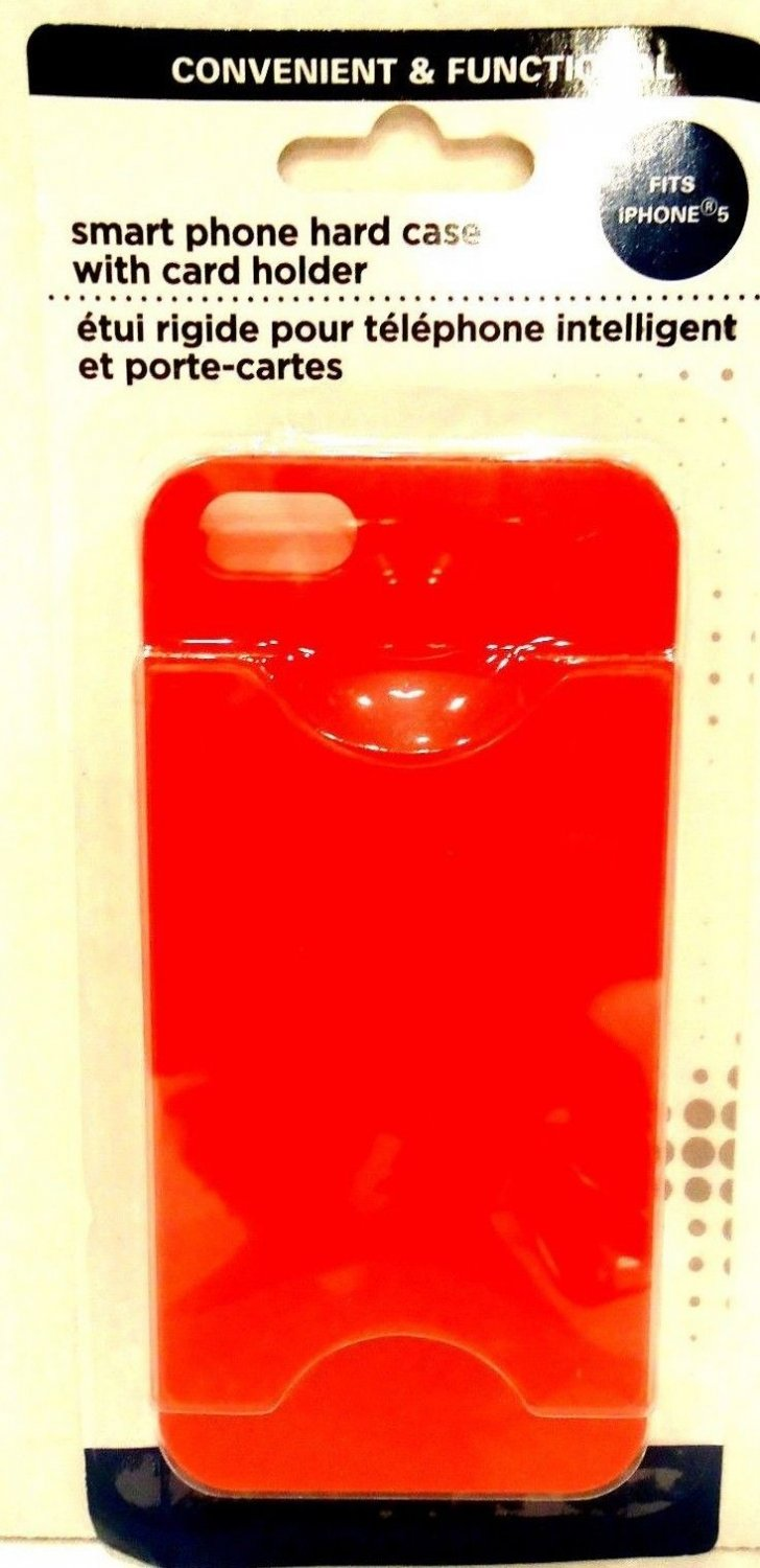 iPHONE - 5 - CELL PHONE - CASE - CREDIT CARD - ID - HOLDER - BRAND NEW - RED