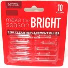 LIVING SOLUTIONS - 10 PK - 3.5V - CLEAR - REPLACEMENT - CHRISTMAS LIGHT - BULBS