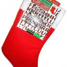 "HOME ELEMENTS - CHRISTMAS - 18"" - MAKE YOUR OWN - IRON ON - STOCKING - RED - NEW"