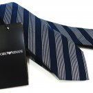 EMPORIO ARMANI - ITALY - NAVY - BLUE - STRIPED - SILK - TIE - ARMANI - BRAND NEW