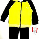 PUMA - TODDLER - 12 MONTHS - 2 PIECE - GRAY - YELLOW - HOODIE - TRACK SUIT - NEW