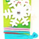 SCUNCI - SNOWFLAKE - CHRISTMAS - GIRL'S - HAIR - CLIP - 8 PCS. - KIT - BRAND NEW