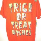 HAPPY HALLOWEEN - GLOW IN THE DARK - ORANGE - TRICK OR TREAT - XL - TEE - NEW