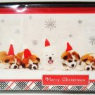 HALLMARK - GLITTER - 17 PCS. - CHRISTMAS - CARDS - ENVELOPES - BOXED - NEW - #4
