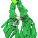 HOME ELEMENTS - WOMEN'S - CHRISTMAS - TREE - CHARM - SCARF - GREEN - BRAND NEW