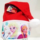 "DISNEY - FROZEN - 17"" - CHRISTMAS - ANNA - ELSA - RED - SANTA - HAT - CAP - NEW"