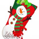 "HOME ELEMENTS - CHRISTMAS - 20"" - FROSTY - SNOWMAN - CHARACTER - STOCKING - NEW"