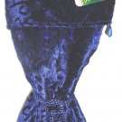 HOME ELEMENTS - BLUE - WINE - BOTTLE - HOLIDAY - CHRISTMAS - VELVET - BAG - NEW