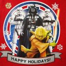"DISNEY - STAR WARS - DARTH VADER - YODA - CHRISTMAS - 17"" - STOCKING - RED - NEW"