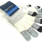 WEST LOOP - WOMEN'S - GRAY - IVORY - 3-IN-1 - TEXTING - WINTER - GLOVES - NEW