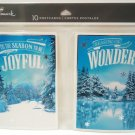 HALLMARK - FOIL - 10 PACK - WINTER - CHRISTMAS - HOLIDAY - POSTCARDS - NEW