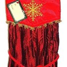HOME ELEMENTS - RED - WINE - BOTTLE - HOLIDAY - CHRISTMAS - SATIN - BAG - NEW