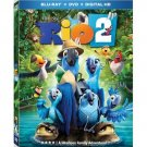 RIO 2 - BLU-RAY - DVD - NEW - ANNE HATHAWAY - CARTOON - PARROT - BIRD - MOVIE