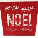 HALLMARK - RUSTIC - VINTAGE - NOEL - CHRISTMAS - BURLAP - WOOD - SIGN - NEW