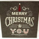 HALLMARK - RUSTIC - VINTAGE - MERRY - CHRISTMAS - BURLAP - WOOD - SIGN - NEW