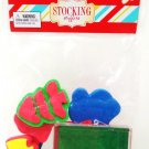 8 PCS. - FOAM - STAMP - INK - SET - CHRISTMAS - STOCKING - STUFFER - BRAND NEW