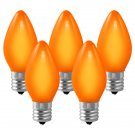 LIVING SOLUTIONS - 4 PK - C9 - ORANGE - REPLACEMENT - CHRISTMAS - LIGHT - BULBS