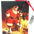 HALLMARK - CHRISTMAS - TREE - ORNAMENT - SANTA CLAUS - CANVAS - PAINTING - NEW