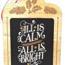 HALLMARK - CHRISTMAS - TREE - ORNAMENT - ALL IS CALM - ALL IS BRIGHT - NEW