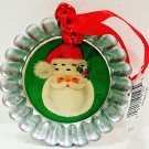 HALLMARK - RUSTIC - CHRISTMAS - PIE - TART - TIN - METAL - ORNAMENT - NEW - #4