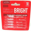 LIVING SOLUTIONS - 10PK - 2.5V - CLEAR - REPLACEMENT - CHRISTMAS - LIGHT - BULBS