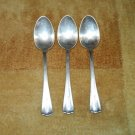 3 CROMWELL 1912 OVAL SOUP SPOONS BY INTERNATIONAL SILVER CO N.E.S.S. Co.