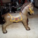VINTAGE 1940'S HORSE WITH WOOD BACKING  NURSERY WALL HANGING HAND PAINTED