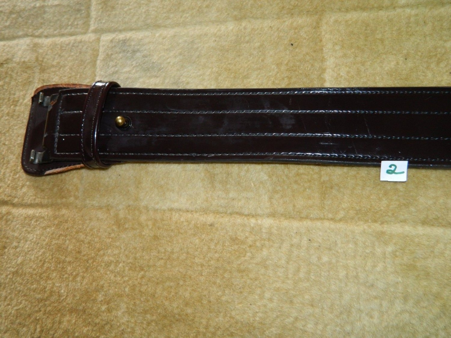 Don Hume Model B101 Burgundy Glossy Leather Sz 36 - Duty Belt - With Buckle #2