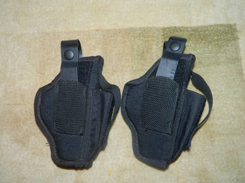 2 BlackHawk Handgun Holster w/ Magazine Pouch Pistol Carry size 5