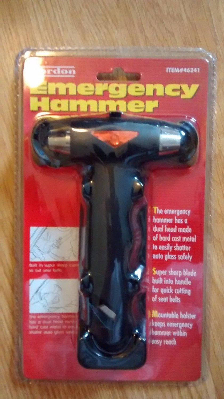 Gordon Car Window Breaker Emergency Hammer Seat Belt Cutter Survival Tool