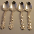Oneida in Modern Baroque Silverplate, 1969, Set of 4 Youth Five O'Clock Spoons