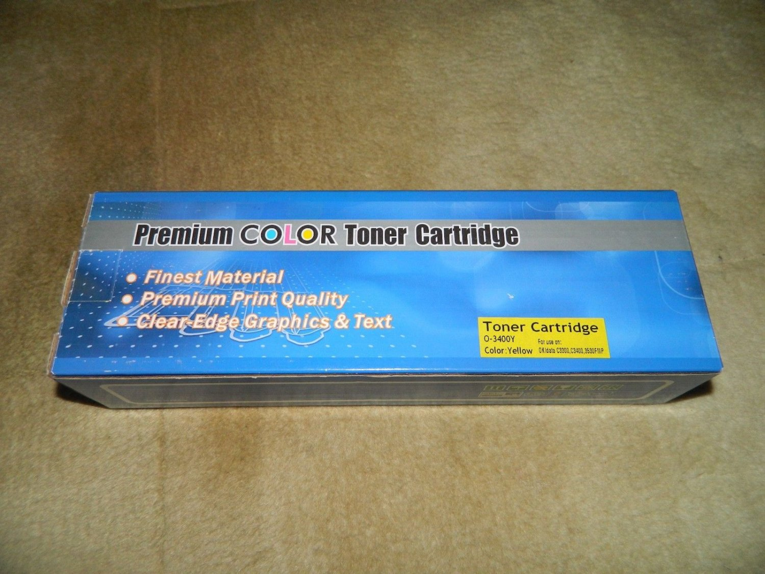 C3400 Cyan and O-3400Y Yellow Toner Cartridges for Okidata C3300, C3400, C3530FM