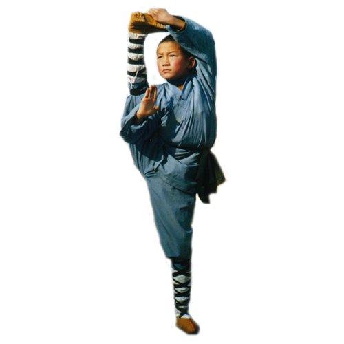 3.1.3.130 Gray/blue Shaolin monk kids uniform
