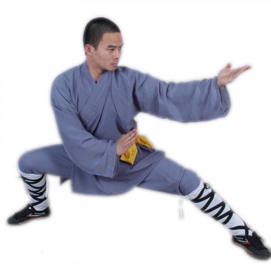3.1.3.190 Gray/blue Shaolin monk longsleeve uniform