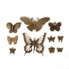 New Design Antique Bronze Plated Zinc Alloy Butterfly Charms