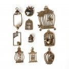Antique Bronze Plated Zinc Alloy Vintage Charms
