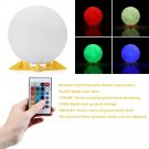 20cm 3D Print Moon Lamp Rechargeable Night Light RGB 16 Color Change with Remote Control