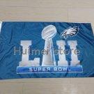 90x150cm new design home decoration flag with super bowl LII Philadelphia Eagles flag 01