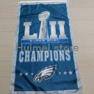 Philadelphia Eagles with super bowl flag custom fan club Eagles champions banner