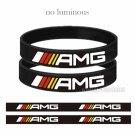2pcs AMG Engrave Silicone Wristband Men Women Power Luminous Bracelets Wrist Band Bangle