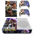 Game Fortnite Skin Sticker Decal For Microsoft Xbox One S Console and 2 Controllers For Xbox One S