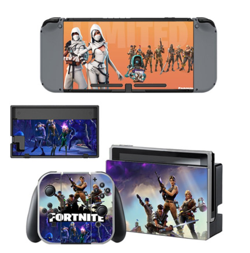 Fortnite Skin Sticker Decal For Nintendo Switch Console