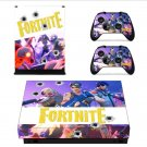 Game Fortnite Skin Sticker Decal For Microsoft Xbox One X Console and 2 Controllers For Xbox