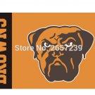 Cleveland Browns wordmack logo brown Flag 3x5FT NFL banner 150X90CM 100D Polyester