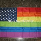 3x5FT American Rainbow Gay Flag banner150X90CM 100D Polyester